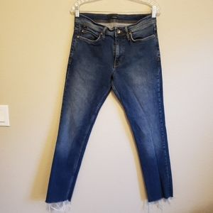 BDG Skinny Cutoff Stretch Distressed Jeans